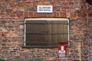 Closed shutters, Allerford Post Office, Allerford